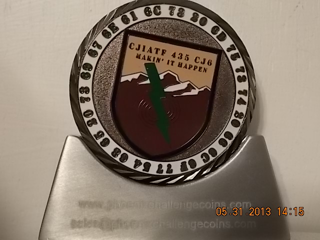 CJIATF-435 CJ6 CUSTOM COIN