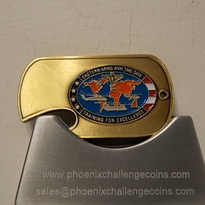 Eastern Army National Guard Avn Training site Bottle Opener Custom coin