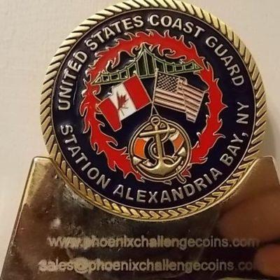 USCG Station Alexandria Bay NY custom US Coast Guard coin by Phoenix Challenge Coins