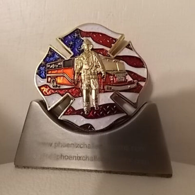 Aberdeen SD Fire Dept Heavy Rescue 3 Custom Fire Department Coin By Phoenix Challenge Coins back