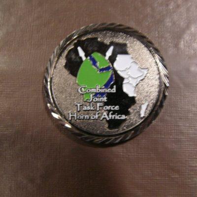 CJTF HOA CJ2 Intel unit coin by Phoenix Challenge Coins black nickel back