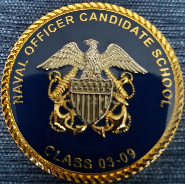 Usn navy officer candidate school class usn ocs 03 09 newport ri challenge coin phoenix - Ocs officer candidate school ...