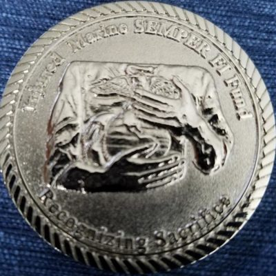 US Navy Marine Corps Ball Charleston, SC 2008 Challenge Coin back