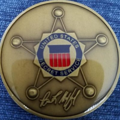 Director of the United States Secret Service USSS Director Challenge Coin back