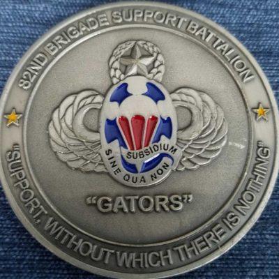 82nd Airborne Brigade Support BN Gators Deployment Coin