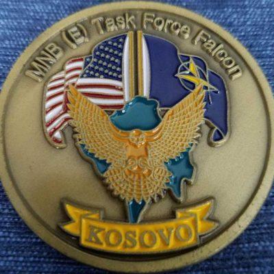 MNB (E) Task Force Falcon Kosovo Reenlistment Coin