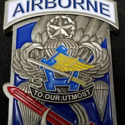 73rd Brigade Support Battalion 173rd Airborne Unit Insignia Shaped Combat Deployment Commanders Challenge Coin