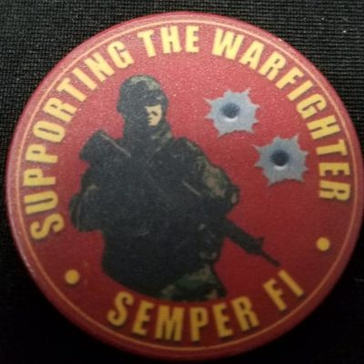 USMC Modern day marine 2009 poker chip back
