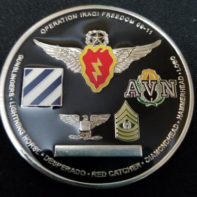 25th Combat Aviation Brigade Commanders Coin back