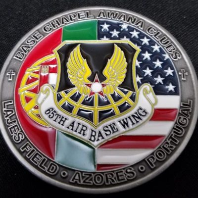 65th Air Base Wing Lajes Field Azores Portugal Base Chapel AWANA Club challenge coin by Phoenix Challenge Coin by Phoenix Challenge Coins
