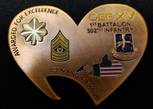 1-502 IN 2nd Bn 502nd IN Rgt Task Force Talon 2 BCT 101st ABN DIV AASLT Afghanistan 2014 Deployment Bottle Opener Challenge Coin V1 By Phoenix Challenge Coins backj