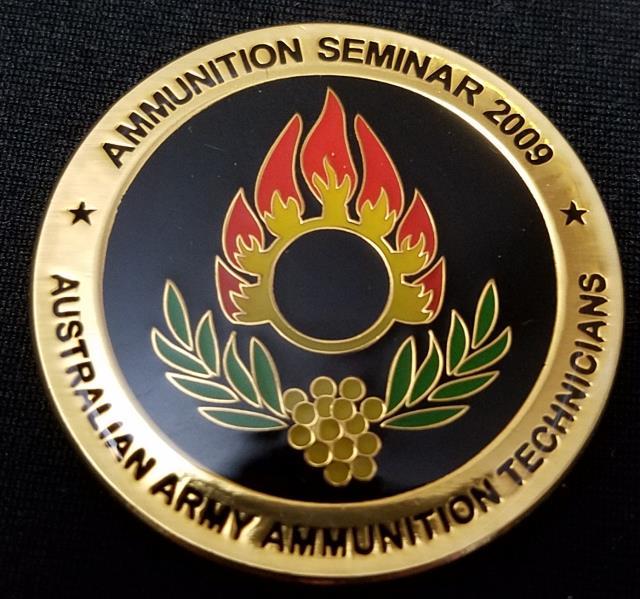 Australian Army Eod Ammo Technician 401 Challenge Coin Phoenix