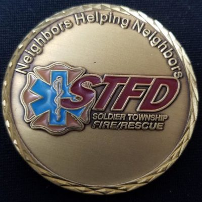 Soldier Township KS 2010 Fire Dept custom challenge coin by Phoenix Challenge Coins