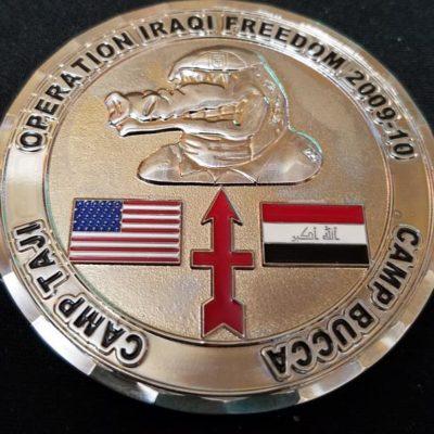 2-127 Infantry Camp Bucca OIF 09-10 Camp Bucca Camp Taji Strike Forward Custom Challenge Coin by Phoenix Challenge Coins
