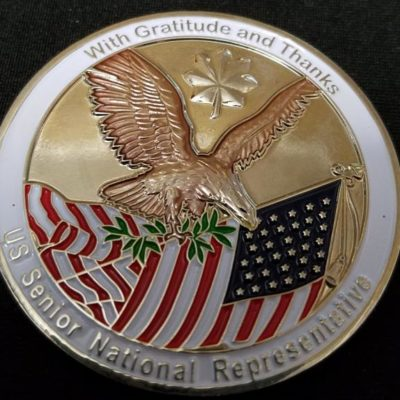 OEF Regional Command Capital RCC-C US State Dept Senior National Representative Challenge Coin back
