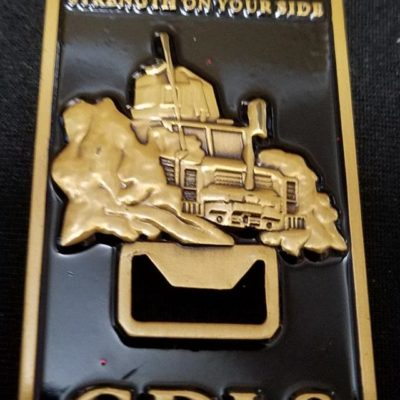 General Dynamics MRAP RG-31 MDLS Deployment Bottle Opener Challenge Coin by Phoenix Challenge Coins