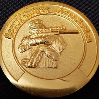 USMC Scout Sniper Association 1.5in challenge coin back