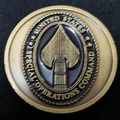 USSOCOM Command Coin with seals on back challenge coin