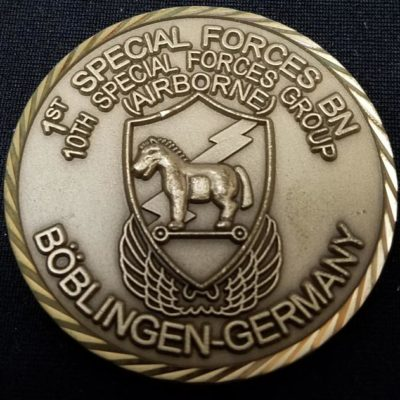1/10th SFG (A) 1st Battalion 10th Special Forces Group Boblingen Germany Command Team Challenge Coin