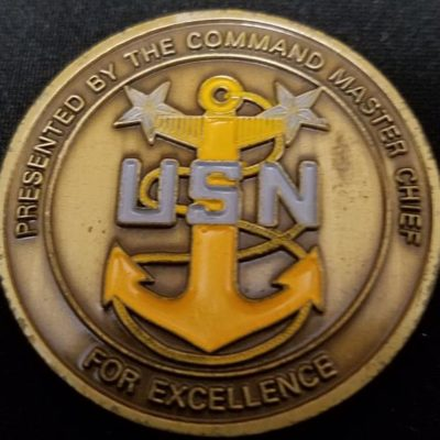 JSOC SEA Joint Special Operations Command Command Master Chief Challenge Coin back