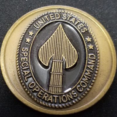 CINC USSOCOM Commander In Chief US Special Operations Command General Peter Schoomaker Round Challenge Coin