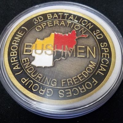 Combined Joint Special Operations Task Force-Afghanistan CJSOTF-STAN 3/3 SFG (A) 3rd Battalion 3rd Special Forces Group (Airborne) challenge coin back