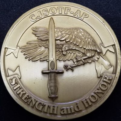 CJSOTF-AP Combined Joint Special Operations Task Force-Arabian Peninsula OIF Deployment V4 Challenge Coin