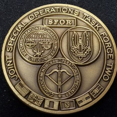 Ultra Rare Joint Special Operations Task Force II Bosnia V2 Challenge Coin