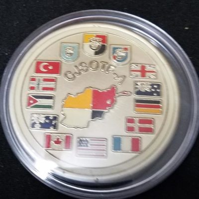 Combined Joint Special Operations Task Force-Afghanistan CJSOTF-A Round round V3 Bagram challenge coin BACK
