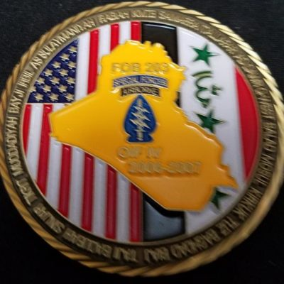 20th Special Forces Group (Airborne) 20th SFG (A) OIF 4 Deployment challenge coin