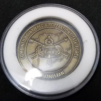 Combined Joint Special Operations Task Force-Afghanistan CJSOTF-A Round round V5 3rd SFG (A) challenge coin
