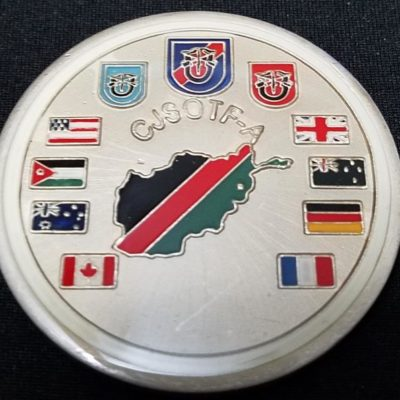 Combined Joint Special Operations Task Force-Afghanistan CJSOTF-A Round round V4 20th SFG (A) Commanding challenge coin back