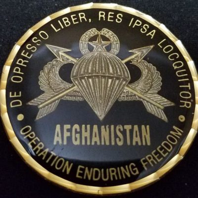 Combined Joint Special Operations Task Force-Afghanistan CJSOTF-A FOB 191 Round challenge coin