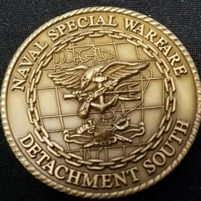 Rare NAVSPECWARCOM Det South Naval Special Warfare Command Detachment South SOCSOUTH challenge coin