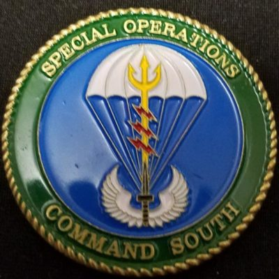 CINCSOCSOUTH Special Operations Command South TSOC Theater Component Special Operations Command Commanding General 1 star BG Cambria Challenge Coin