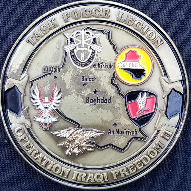 CJSOTF-AP Combined Joint Special Operations Task Force-Arabian Peninsula OIF Deployment V6 Challenge Coin back