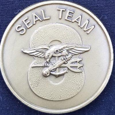 US Naval Special Warfare Navy Seal Team 8 Challenge Coin