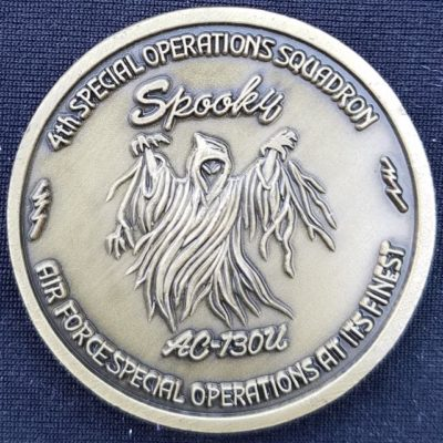 AFSOC 4th SOS 4th Special Operations Squadron AC-130U Challenge Coin
