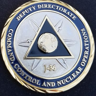 Joint Staff J36 Nuclear ops Custom Challenge Coin by Phoenix Challenge Coins