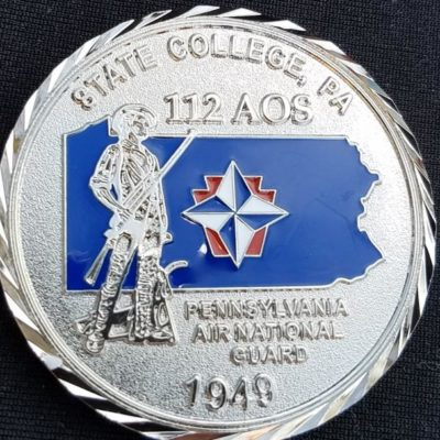 112th AOS PA ANG Unit coin by Phoenix Challenge Coins back