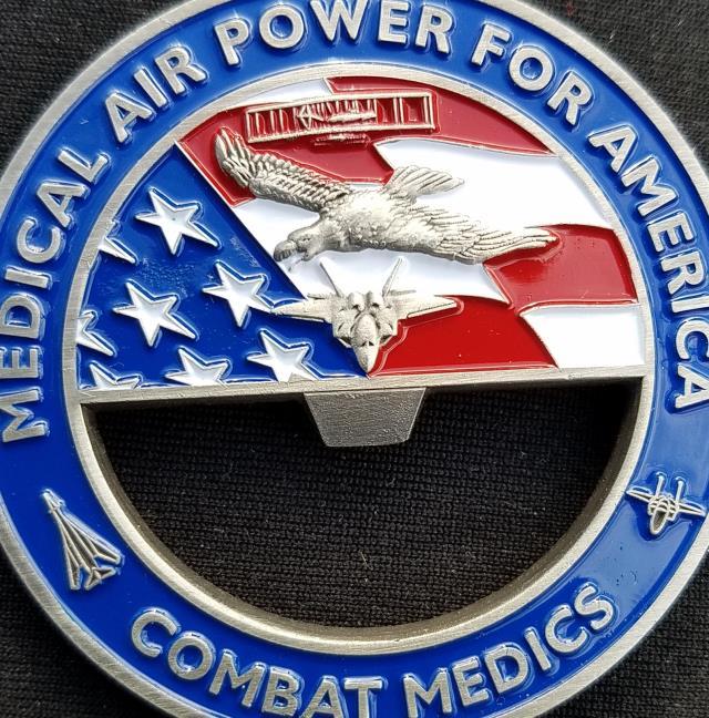 81st Medical Group Bottle Opener Gen Corum Custom Unit Coin by Phoenix Challenge Coins back