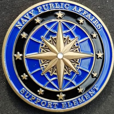Department of the Navy Public Affairs Support Element Challenge Coin by Phoenix Challenge Coins back