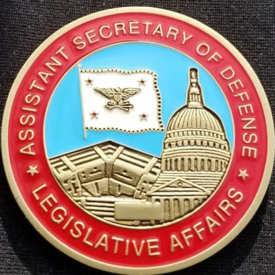 Deputy Secretary of Defense Legislative Affairs Custom Department of Defense Challenge Coin by Phoenix Challenge Coins back