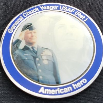 Chuck Yeager Challenge Coin by Phoenix Challenge Coins back