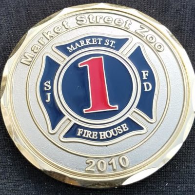 San Joe New Mexico Fire Department Market St Station 'The Zoo' Fire Fighter custom challenge coin by Phoenix Challenge Coins
