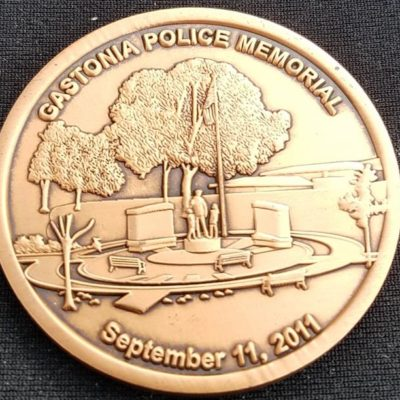Gastonia North Carolina Police Department Memorial September 11, 2011 Police Challenge Coin by Phoenix Challenge Coins back
