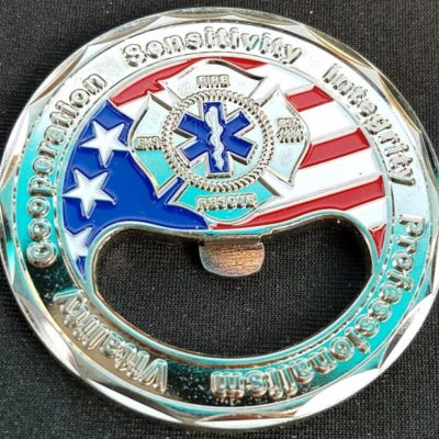 Alhambra Fire Department Bottle Opener Fire Rescue Challenge Coin By Phoenix Challenge Coins