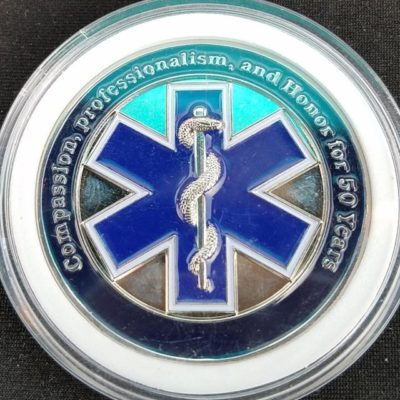 South Lake Tahoe Fire Rescue EMS Challenge Coin back
