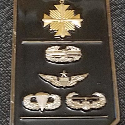 160th SOAR Battalion Commander tail rotor blade shaped challenge coin back