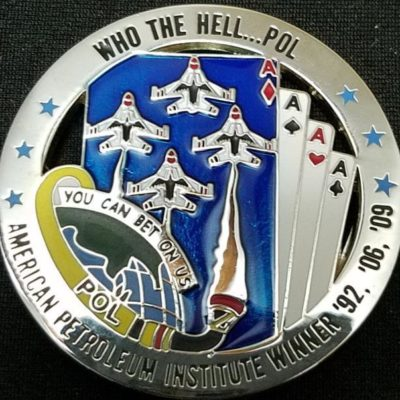99th POL Thunderbirds Nellis round cards cut out coin back